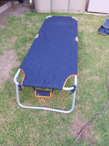 foldable single camping bed