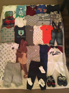 INFANT BOYS CLOTHES (MANY WITH TAGS STILL ON)