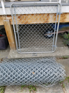 Chain link fencing +gate