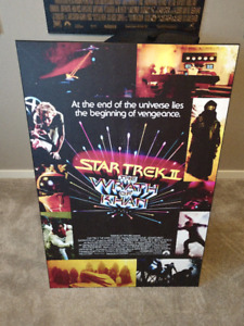 Plaque Mounted Movie Posters - Star Trek 2, Road House, etc