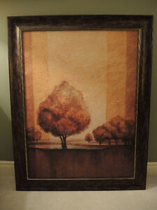 Framed Large Canvas Painting