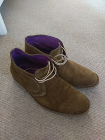 Gucinari Suede Desert Ankle Boots