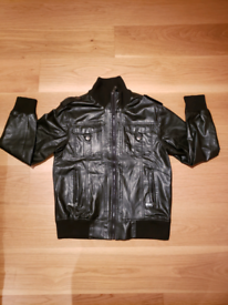 Men Women faux Leather Windbreaker Jacket coat Warm, water resistant