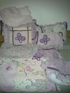 Beautiful girl crib bedding set Windsor Region Ontario image 1