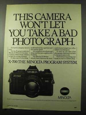 1982 Minolta X-700 Camera Ad - Won't Let You Take Bad