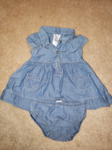3 month carters jean dress with undies