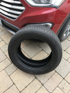1x P225 60 R18 Continental Touring Contact tire ECCPlus - used