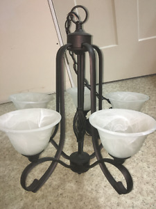 5 Light Oil Rubbed Bronze Twenty One Chandelier Light Fixture
