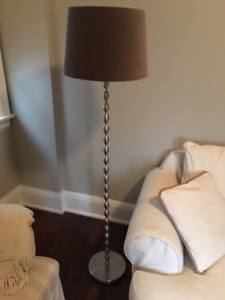 Floor Lamp / Fabric Shade / Rarely Used $55