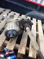 Differentials and transfer case for a chevy gmc 1500 half tone