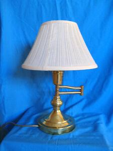 Classic Swing Arm Brass Desk/Piano Lamp