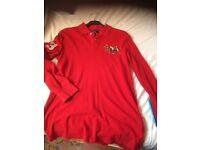 Ralph Lauren red polo top