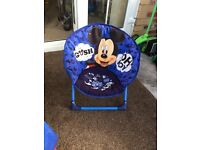 Mickey Mouse blue children's moon chair