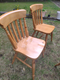 Strong Pine kitchen chairs - the last two of our set