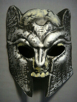 Horrorland Dark Knight Foam Chinless Face Mask with Elastic Strap