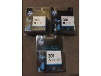 HP 301 Printer Ink - 2 Black & 1 Colour - NEW