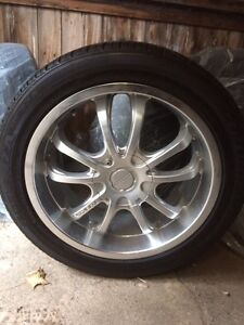 "18"" touren tr5 aluminum rims  Kitchener / Waterloo Kitchener Area image 1"