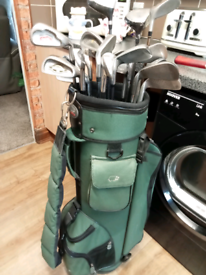 Loads of different irons and makes in big hippo bag
