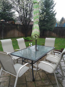 9-piece outdoor dining patio set