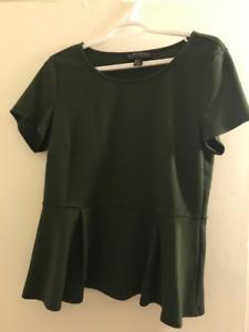 Green Peplum Shirt