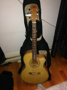 Acoustic guitar barely used -LOOKS NEW