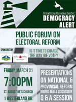 Is it time to change the way we vote? Public Event!