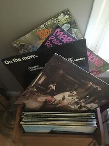 Record box and over 50 records
