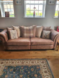 DFS 4 seater, cuddle chair and footstool