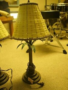 Two palm tree lamps