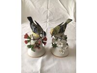 Two bird bell ornaments