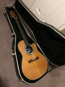 USA Ovation Nylon Classical Acoustic Electric ** Excellent **