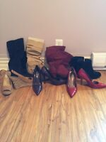 Assortment of ladies shoes and boots size 7