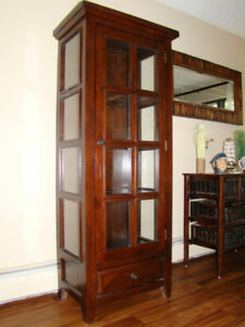 China Cabinet, Hutch and Dinning Table with Four Matching Chairs