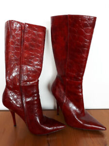 Ladies Red Boots by Aldo