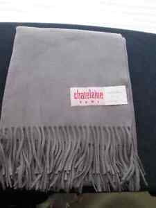 Cashmere Throws - Pewter Grey & Royal Blue *Brand New*