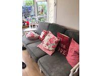 Cane sofa. 3 seater