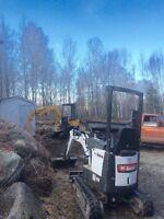 location machinerie d excavation avec operateur 60$/h 2 hommes