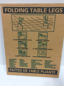 Folding metal table legs (2 sets)
