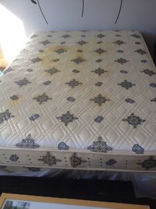 Free Double bed mattress and box spring and frame