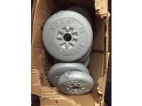 Dumbbell weights no screws or handles