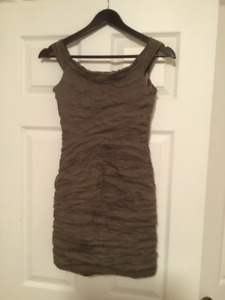 Guess by Marciano Short Dress Size 6 Taupe