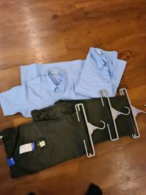 Boys school uniform. 3 new trousers 12 to 13 2 short sleeve shirts