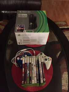Excellent conditions XBOX 360  250 GB Bundle with 9 Games!