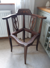 Victorian Corner Chair - upcycle project!