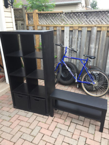 Ikea shelves and stand