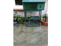Rabbit Guinea pig Hutch with playpen
