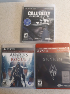 Ps3 Games - Skyrim, Assassins Creed Rogue, CoD Ghosts
