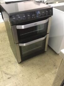 Belling Black Electric Cooker With Induction Ceramic hobs