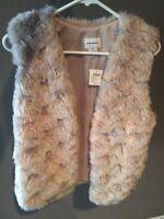 Brand New Club Monaco Faux Fur Vest