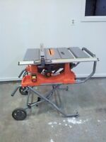 RIDGID 10 Inch Portable Table Saw with Stand